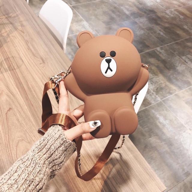 Túi gấu silicon brow loại 1