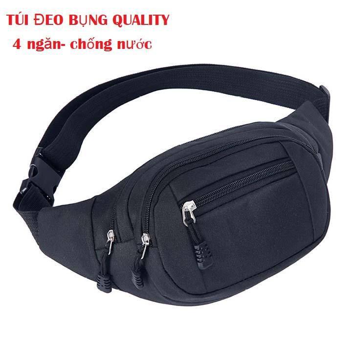 Túi đeo hông, đeo chéo chống thấm nước 4 ngăn cao cấp Quality