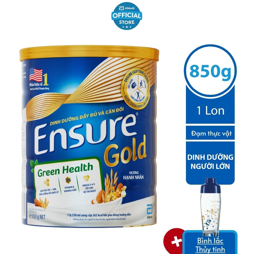 Sữa bột Ensure Đạm thực vật 850G/lon