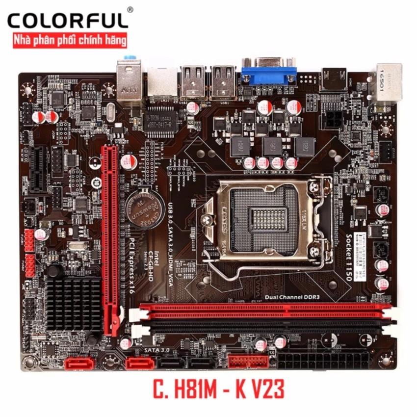 Bo mạch chủ Mainboard Colorful C. H81M - K V23