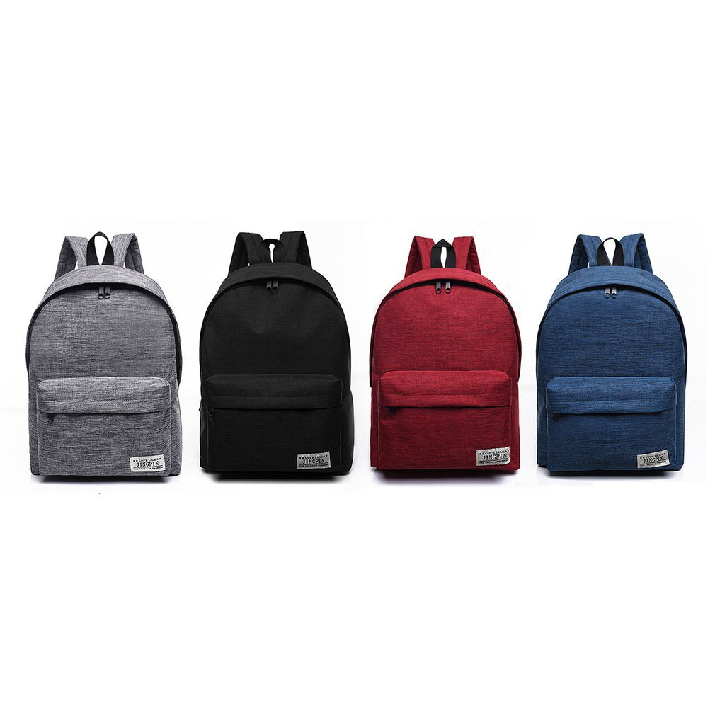 Casual Style Canvas Backpack Large Capacity Travel Korean Style Bag School Bags