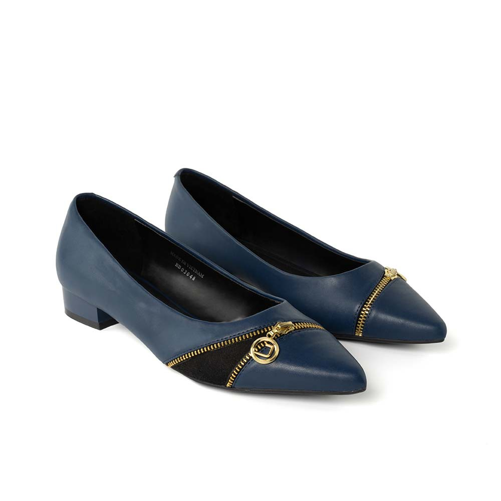 JUNO - Giày búp bê mũi nhọn trang trí dây kéo BB