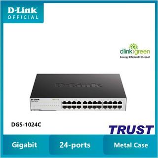 D-Link Switch Gigabit 24 cổng 10 100 1000Mbps Gắn tủ Để bàn -Bộ chia mạng switch D-LINK DGS-1024C thumbnail