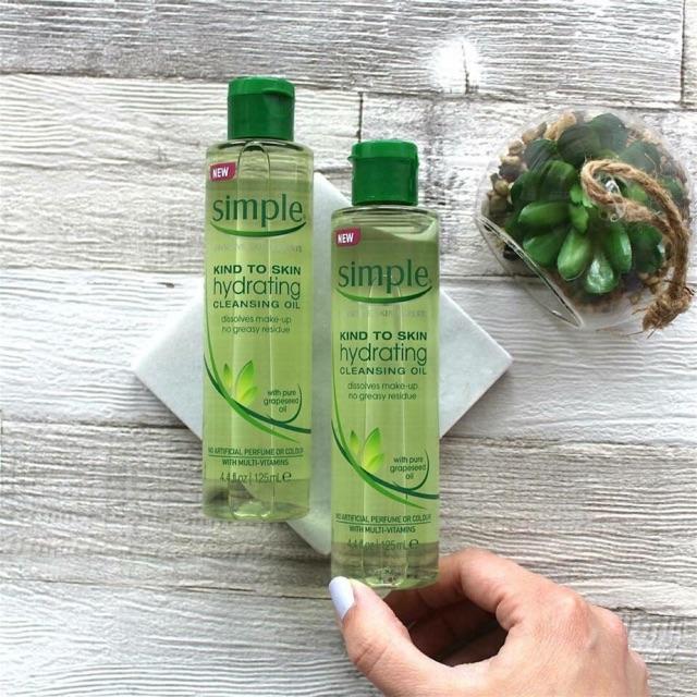 Dầu tẩy trang SIMPLE Kind To Skin Hydrating Cleansing Oil - 2548866 , 454506856 , 322_454506856 , 230000 , Dau-tay-trang-SIMPLE-Kind-To-Skin-Hydrating-Cleansing-Oil-322_454506856 , shopee.vn , Dầu tẩy trang SIMPLE Kind To Skin Hydrating Cleansing Oil