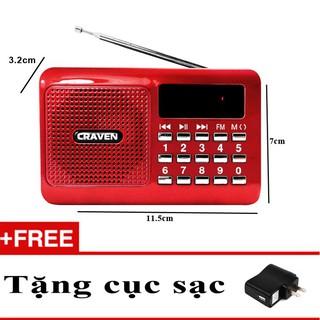 máy nghe đài FM hỗ trợ khe cắm thẻ nhớ và cổng usb, dùng để nghe pháp CARAVEN CR16