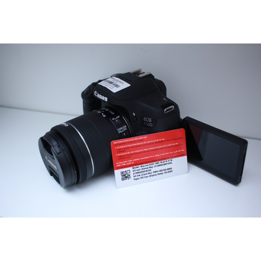 BÁN COMBO 750D +kit 18-55mm F3.5-5.6 IS STM fullbox mới 98%