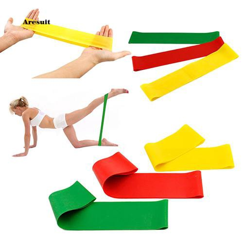 AEST_Fitness Workout Yoga Tensile Pull Rope Resistance Band Exercise Tension Ring