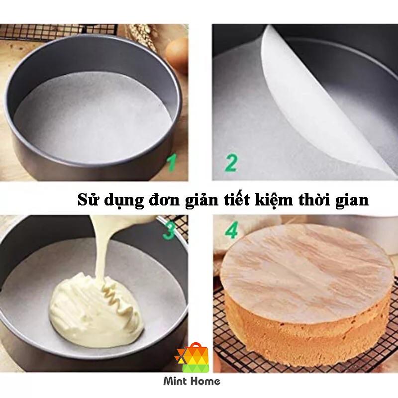 100 Tờ Giấy nến tròn chống dính lót cho nồi chiên không dầu, khuôn làm bánh, lò nướng thịt loại ko đục lỗ