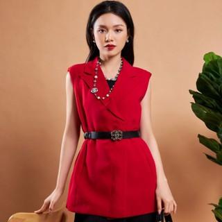 Áo ghi lê đỏ không tay thiết kế Elise thumbnail