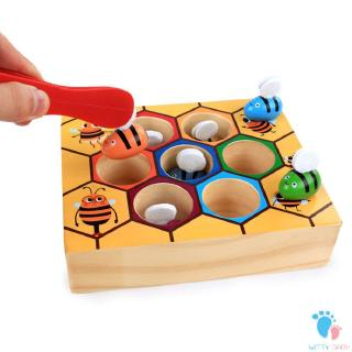 Enlightenment Educational Clip-on Beehive Game Cognitive Clip Bee Toy