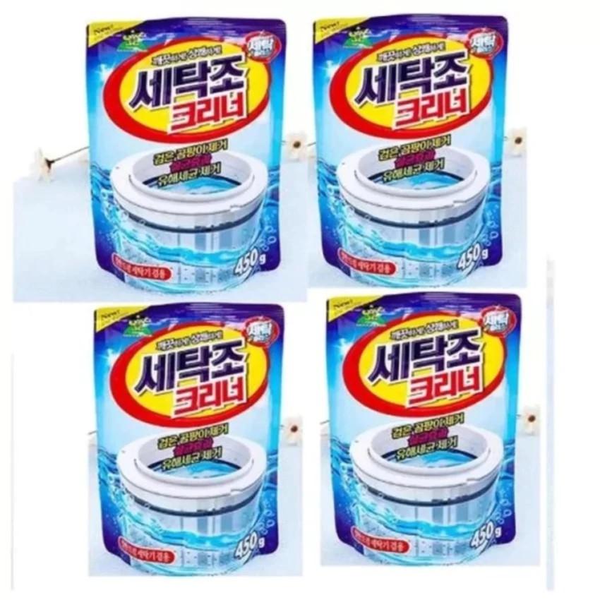Bộ 4 gói bột tẩy vệ sinh lồng máy giặt 450g - 22972152 , 1489212075 , 322_1489212075 , 190000 , Bo-4-goi-bot-tay-ve-sinh-long-may-giat-450g-322_1489212075 , shopee.vn , Bộ 4 gói bột tẩy vệ sinh lồng máy giặt 450g