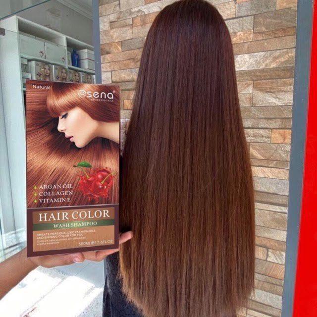 Dầu gội nhuộm thảo dược giúp Nâu hoặc Đen tóc của Sena từ nhật bản