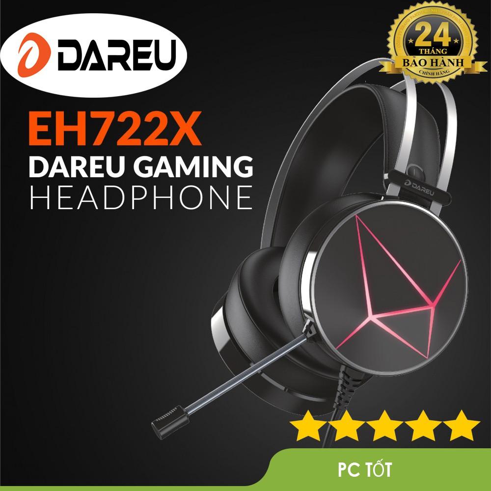 Tai nghe gaming DAREU EH722X Black - Tăng khả năng khử ồn