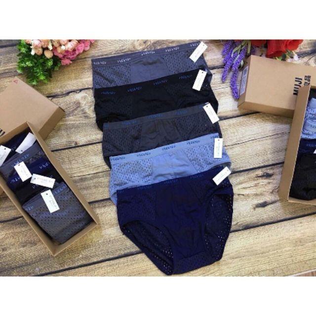 Hộp 5 chiếc quần sịp chéo  thông hơi xuất nhật 💎cao cấp💎