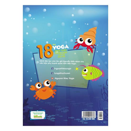 Sách - 18 thế yoga phát triển chiều cao vượt trội cho trẻ
