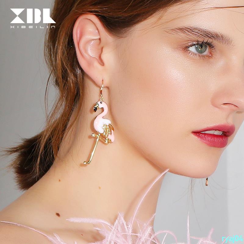 Orders over 199 shipped Korean personality long cute animal earrings female temperament fashion European and Ameriryaj04