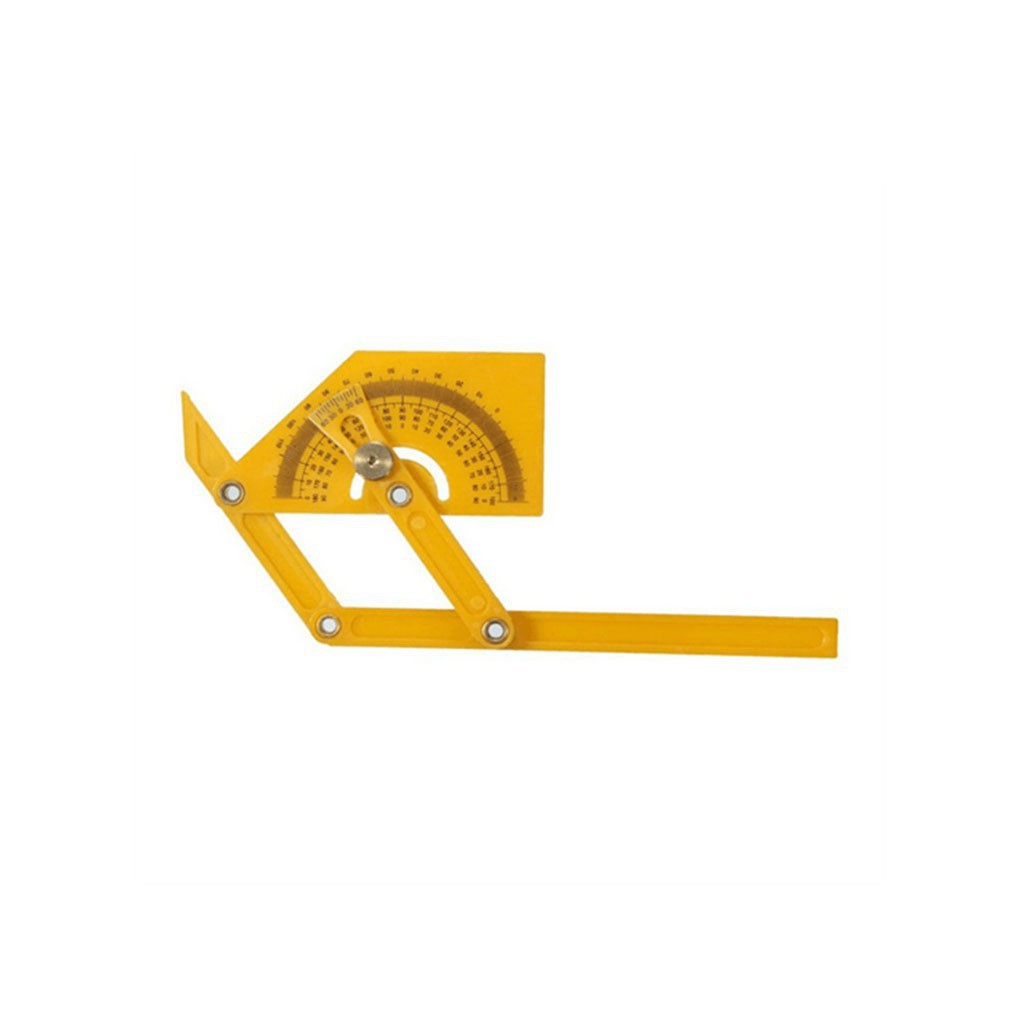 180 Degree Protractor Angle Finder Rotary Measuring Ruler Foldable Yellow