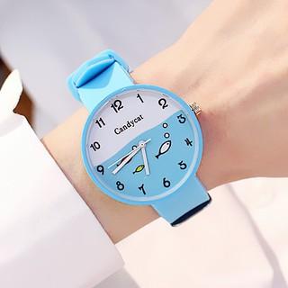 Đồng hồ trẻ em dây cao su mặt cá Candycat PKHRTE004 (nhiều màu)