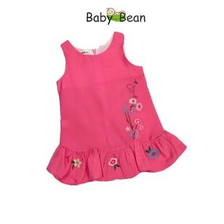 Đầm Tơ Lượn Bèo Thêu Hoa BabyBean
