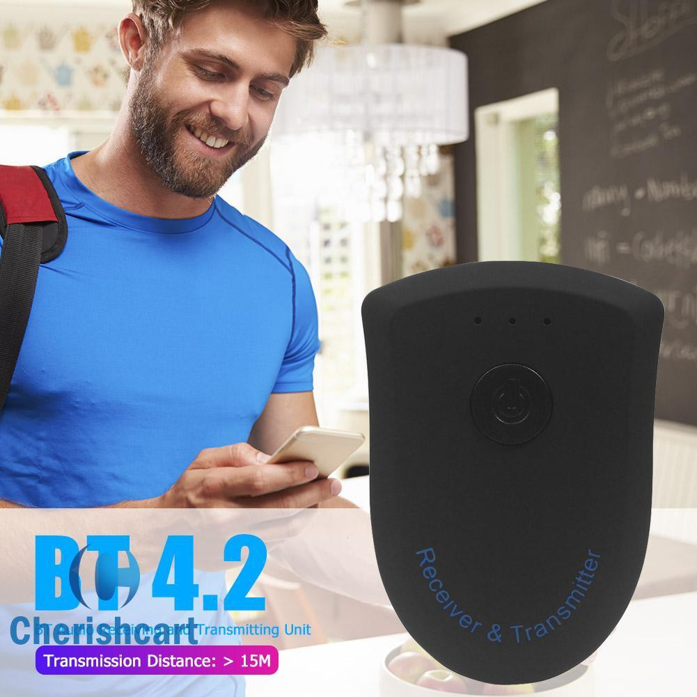 ➢cherishcart➢BT805 2 in 1 Stereo Bluetooth 4.2 Audio Receiver Transmitter for TV MP3 PC