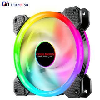 Quạt Tản Nhiệt, Fan Led RGB Coolmoon V2 – Đồng Bộ Hub Coolmoon