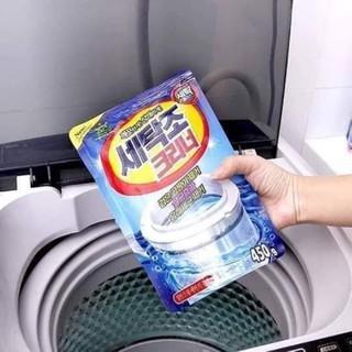 Bột vệ sinh lồng máy giặt Hàn Quốc 450g.