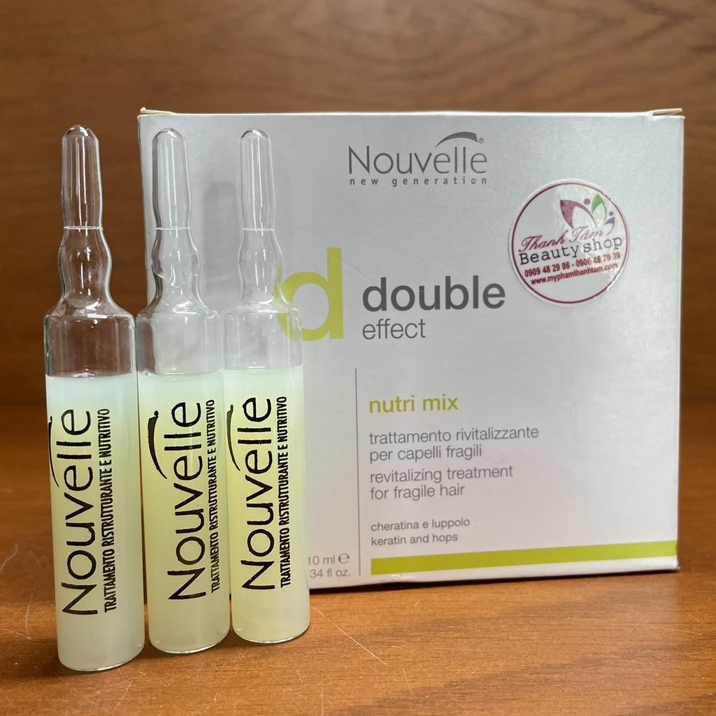 Serum huyết thanh keratin dưỡng trị tóc hư tổn Nouvelle new Generation Double Effect Nutri Mix 10mlx10