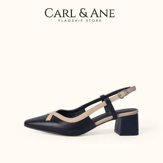 Carl & Ane - Gia y cao gót thời trang kiê u da ng bi t mu i phô i dây đơn gia n màu đen _ CL009 thumbnail