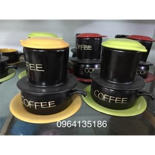 Bộ phin pha cà phê gốm sứ Bát thumbnail