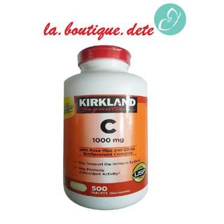 [Bill Mỹ] Viên uống bổ sung Vitamin C 1000mg Kirkland hộp 500 viên chính hãng Mỹ