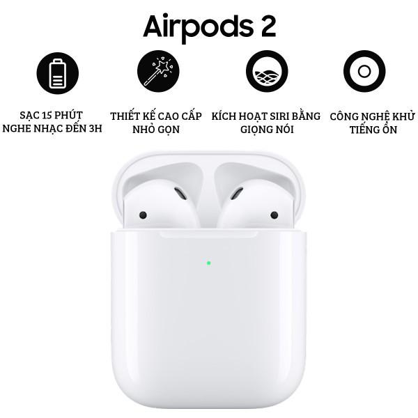 Tai Nghe Bluetooth Iphone Airpods 2 Mini Pro 4 - Kết Nối Không Dây Chuyên Gaming - Âm Thanh True Wireless