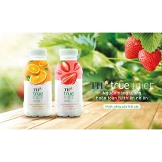 TH true juice milk 300ml/24 chai (cam,dâu)