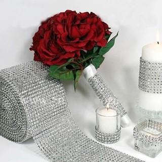 Cuộn ruy băng giả đính đá trang trí tiệc cưới thumbnail