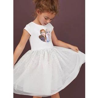 Váy HM elsa trắng chân voan