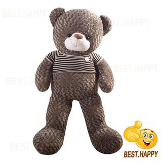 Gấu teddy áo len khổ vải 1m6 (cao thật 1m4)