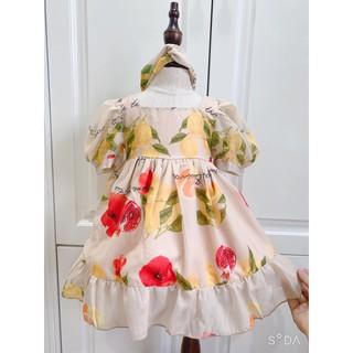 Đầm Cho Bé  💕𝑭𝑹𝑬𝑬𝑺𝑯𝑰𝑷  tặng kèm turban 💕 Váy Trẻ Con - Đầm Thiết Kế Cao Cấp VNXK Bé  1 - 8 Tuổi