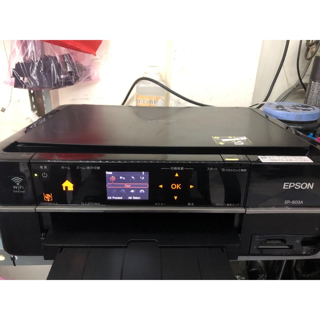 Máy in Epson EP - 803A, 6 màu, hàng nội địa Nhật, in - scan - photo, gắn mực rời giá rẻ, máy mới 95%
