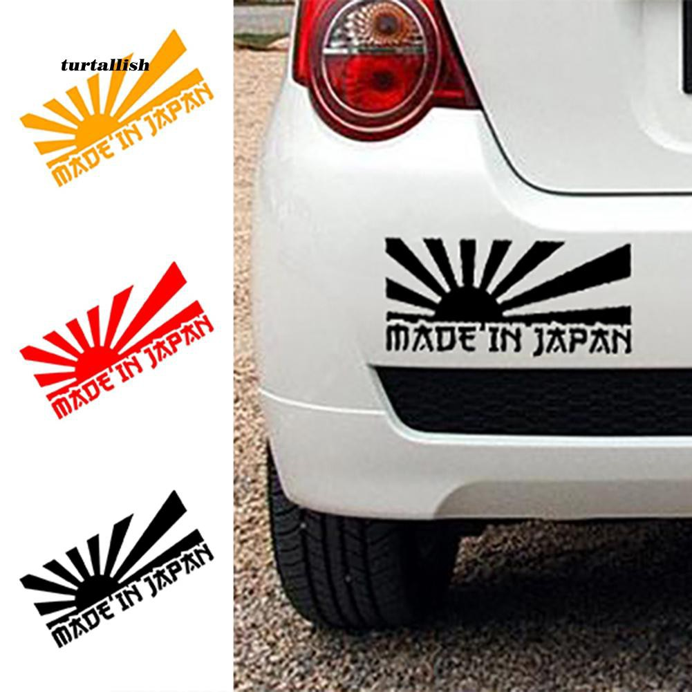 TUR♥Made In Japan Letter Car Styling Decorative Stickers Reflective Auto Decals