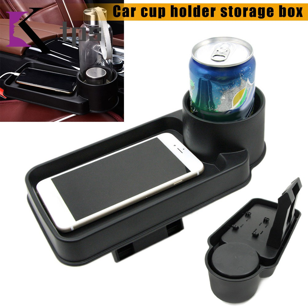 Multifunction Car Seat Tray Mount Food Storage Shelf Drink Cup Stand Holder Extension Tray