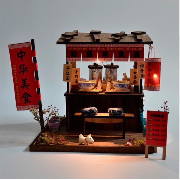 FREESHIP ĐƠN 99K_Mô hình nhà búp bê gỗ DIY - Chinese Cuisine tiệm mì nước truyền thống Trung Quốc