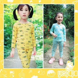 Quần áo trẻ em Đồ bộ Bé trai Bé gái dài thun lạnh mặc nhà và ngủ vào ban đêm kiểu Hàn Quốc YESPAPA KW099