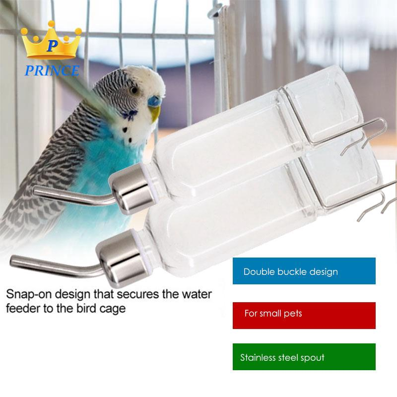 Ready Stock Pet Food Feeder Dispenser Parrot Food Bowl 180/350ml Water Box Durable