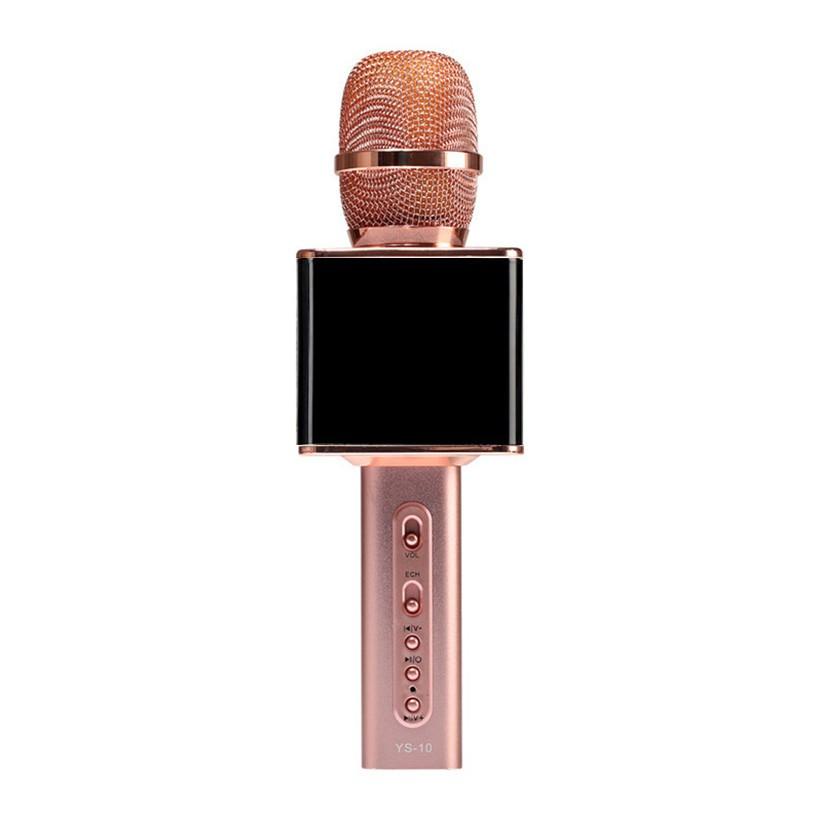 Micro kèm loa Magic Karaoke YS-10 Hồng Đen