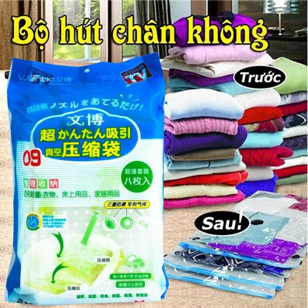 Bộ 8 túi hút chân không đựng chăn màn kèm bơm tay tiện dụng - 3609996 , 1252238647 , 322_1252238647 , 200000 , Bo-8-tui-hut-chan-khong-dung-chan-man-kem-bom-tay-tien-dung-322_1252238647 , shopee.vn , Bộ 8 túi hút chân không đựng chăn màn kèm bơm tay tiện dụng