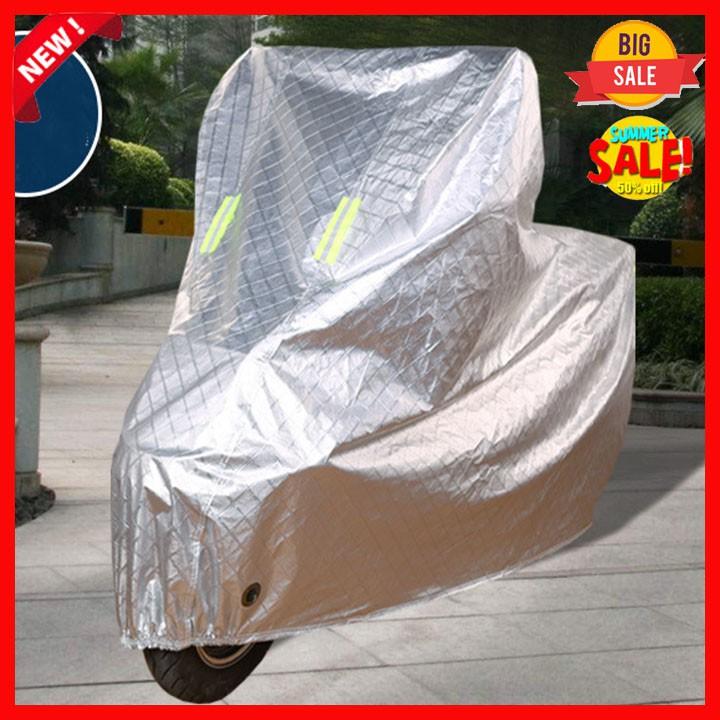 (Sale FreeShip) Áo Trùm Xe Bạt Trùm Xe Máy 3D Tráng Nhôm Cao Cấp Che Mưa Nắng Cách Nhiệt Chống Tia UV Tránh Phai Màu Xe