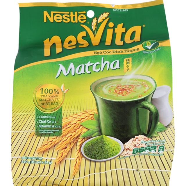Bột Ngũ Cốc Matcha NesVita Nestlé Gói 240G (24G x 10 Gói)