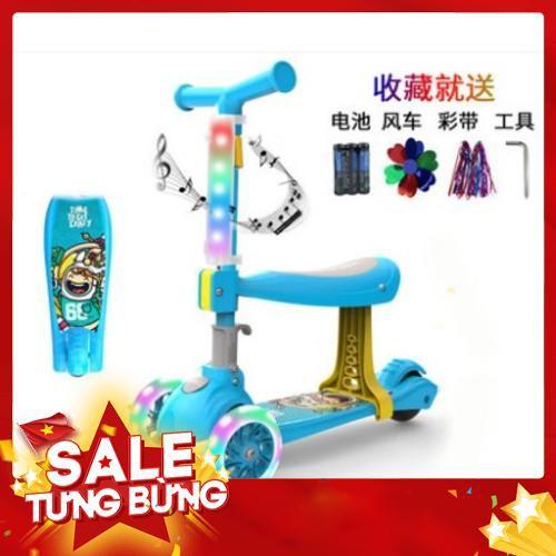 (Si) Xe tay ga cho trẻ nhỏ mát mẻ 1-3-6-12 tuổi Trẻ em nam và nữ trượt khối ba trong một bánh xe bé yo - Hàng nhập khẩu