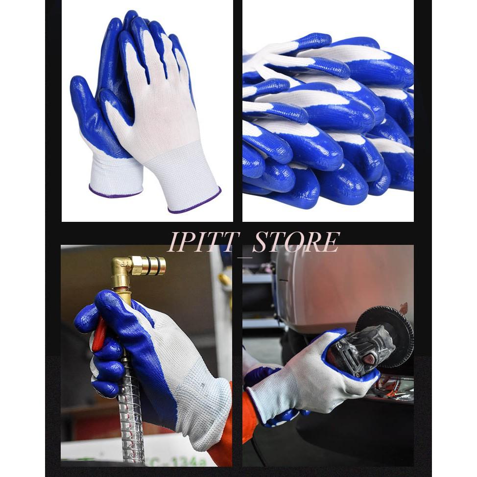 Găng tay bảo hộ phủ nhựa xanh xịn [giá tốt]