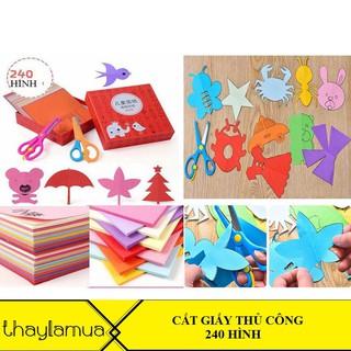 Combo 10 bộ đồ chơi cắt giấy thủ công 240 hình cực kì bắt mắt và dễ cắt cho trẻ