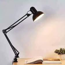 Đèn bàn học chống cận kẹp bàn -Đèn để bàn kèm kẹp bàn đa năng Đen( bao gồm bóng đèn)